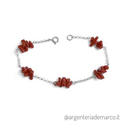 Bracciale Corallo Rosso in Argento 925