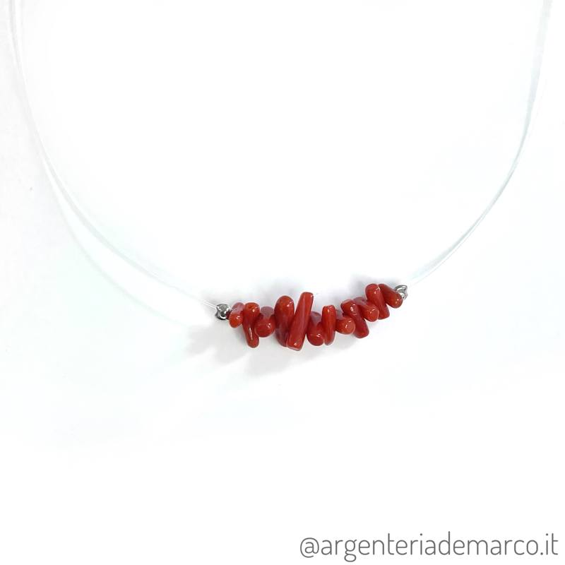 Collana Fantasmino Corallo Rosso