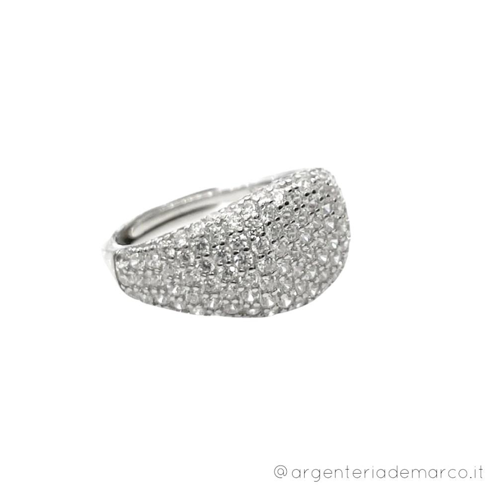 Anello regolabile in Argento 925 e Cubic Zirconia ASV037