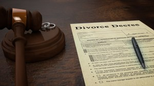 Gavel Divorce Paper Decree Front
