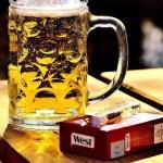 Publicidad de cerveza y tabaco