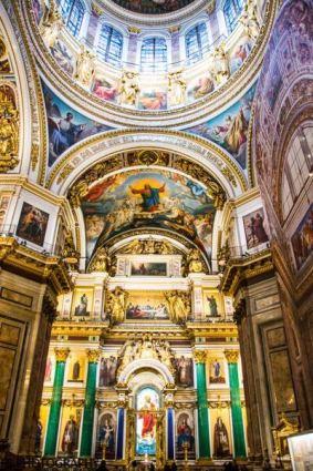 interior catedral de san isaac