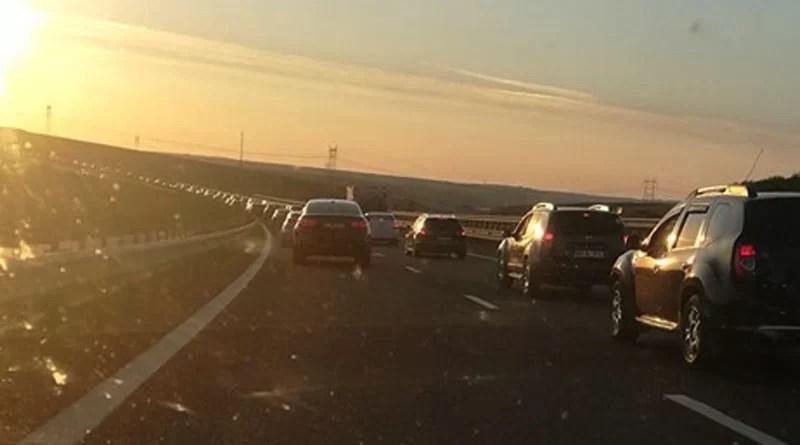 Trafic aglomerat pe Autostrada Soarelui, spre litoral
