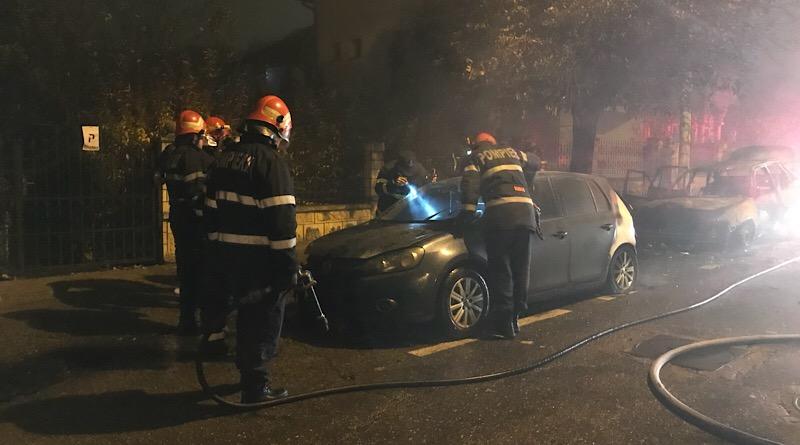 Incendiu auto Pitești -live-