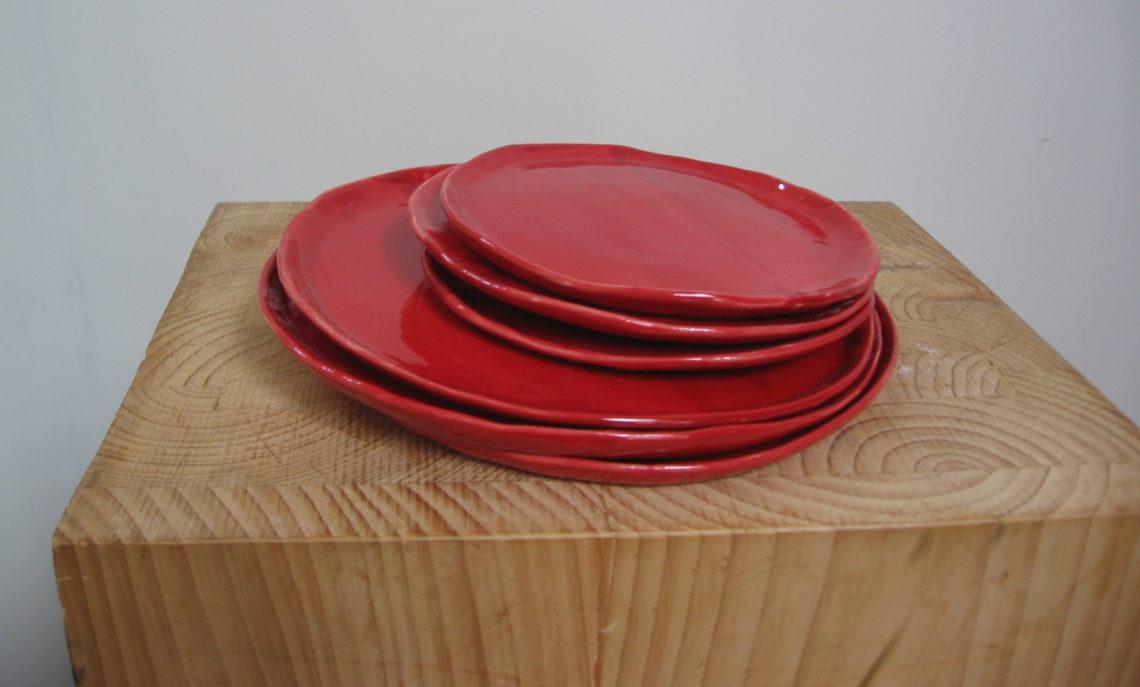 Assiettes rouges