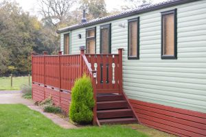 Argill Caravan Park Cumbria outside of caravan