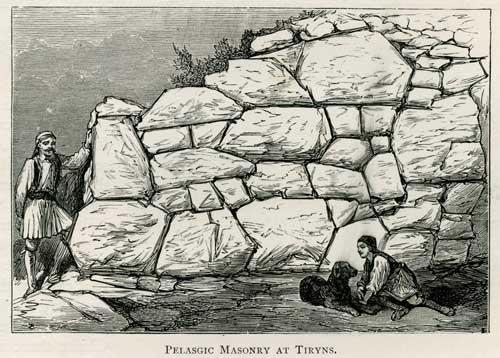 Pelascic Masonry At Tiryns