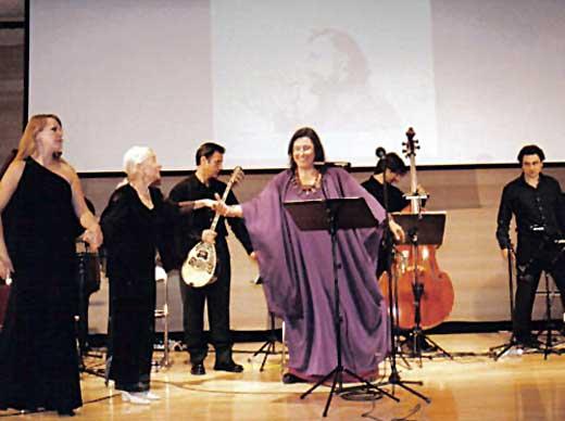 Ο Βαγγέλης Τρίγκας με την Μαρία Φαραντούρη
