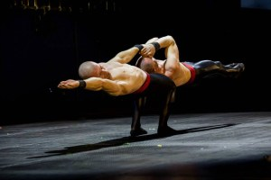 Strong Acrobats in Hand To Hand Act - Argolla Acrobatic Show