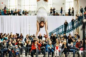 Woman in Handbalancing Act - Argolla acrobatic show