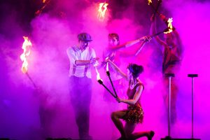 Dancers, Actors and Acrobats in Theatrical Circus Show Argolla