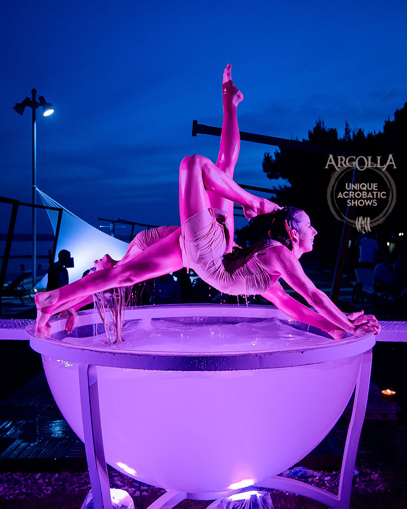 Water Bowl Acrobatic Act - Argolla Show