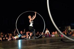 Woman in Cyr Wheel - Argolla Acrobatic Act
