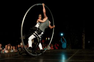 Romantic Duo - Dancers in Cyr Wheel - Argolla Show
