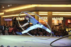 Acrobatic show on Cyr Wheel - shopping mall event Vankovka - Argolla productions