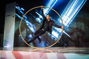 Corporate event - Cyr Wheel Show - Argolla acrobat