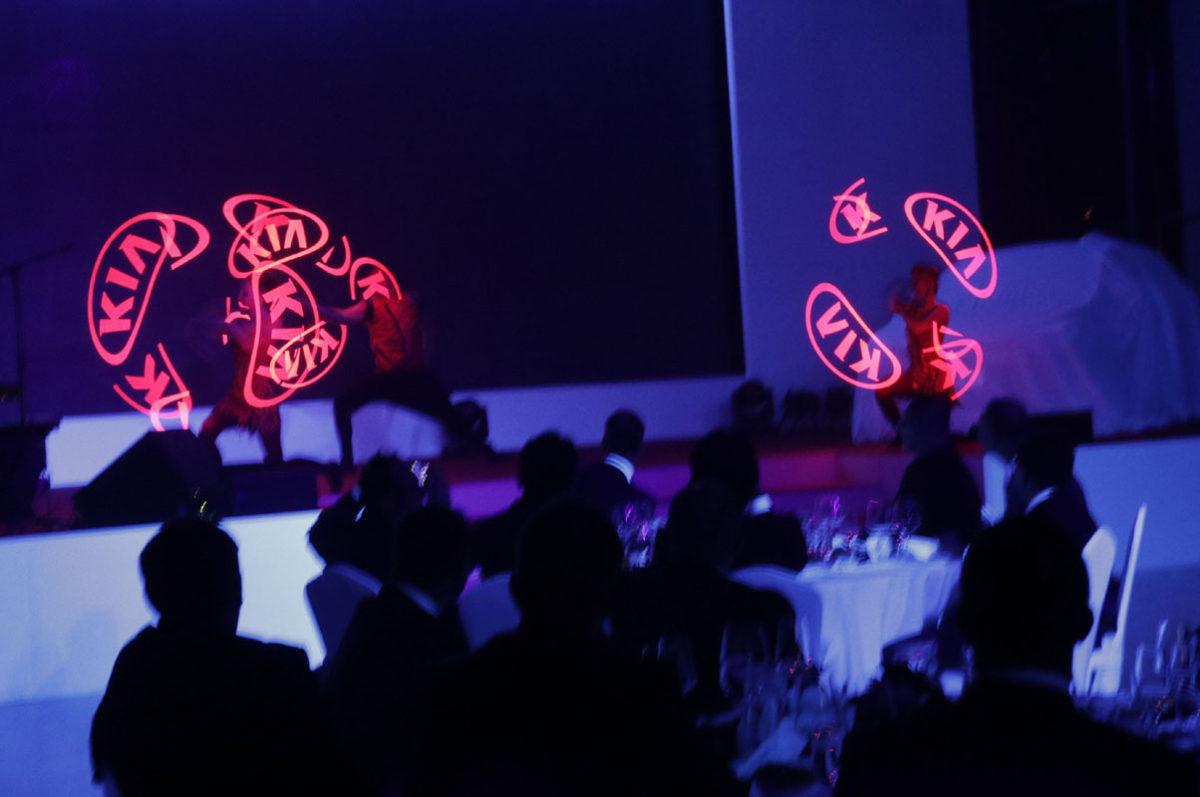 Kia Logo - Visual Pixel Poi Show - Argolla productions - corporate entertainment