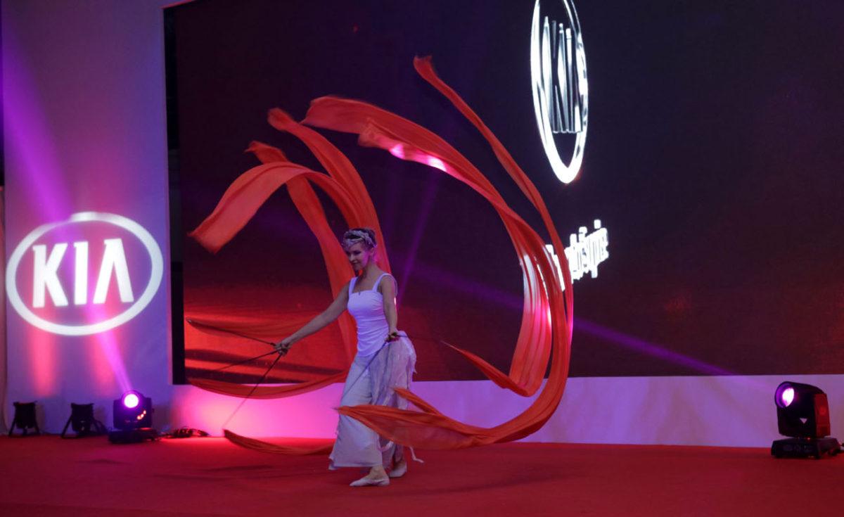 ribbons dancer - car launch event - entertainment Argolla
