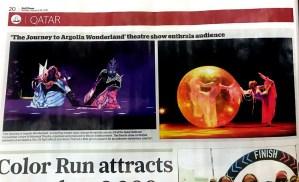 Gulf Times - Argolla Journey To Wonderland - dance acrobatic show