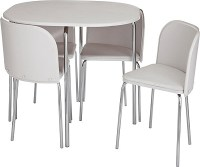 Buy Hygena Amparo Dining Table and 4 Chairs - White at ...