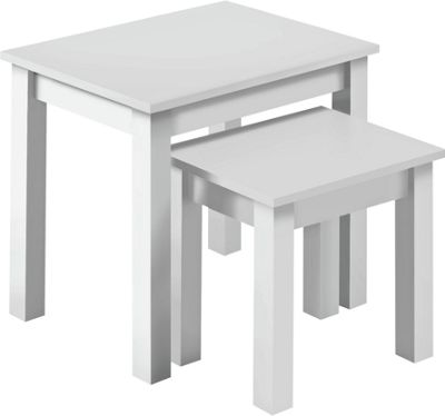 white living room furniture argos wallpaper ideas for rooms buy home nest of 2 tables - at argos.co.uk your ...