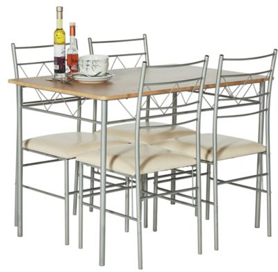 drop leaf table and chairs argos linen chair covers dining room hygena lido glass & 4 white now £95.99 c+c + more sets from £66.94 ...