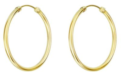 Buy 9ct Gold Plain Capped Hoop Earrings at Argos.co.uk