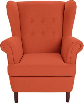 burnt orange chair uk antique rocking identification buy collection martha fabric wingback - at argos.co.uk your online shop for ...