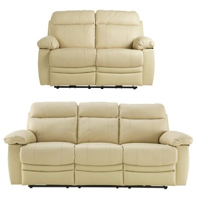 argos recliner sofa cindy crawford sidney road buy collection new paolo 3 seat/2 seat power recline ...