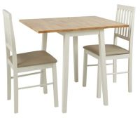 Buy HOME Kendall Drop Leaf Table and 2 Dining Chairs - Two ...