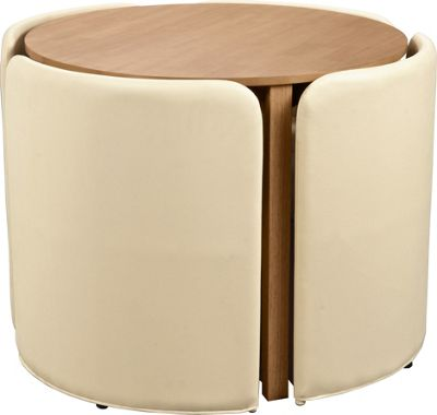 space saver kitchen table and chairs modern images buy hygena wooden 4 - cream ...