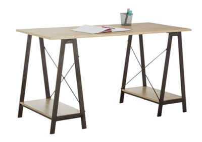 Buy HOME Large Trestle Table Desk at Argoscouk  Your