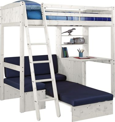 sofa beds argos co uk hideaway buy classic high sleeper bed with blue - white ...