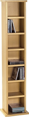 Buy HOME Maine Media DVD and CD Storage Tower - Beech ...