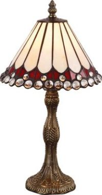 Buy Collection Tiffany Style Jewel Table Lamp - Cream at ...