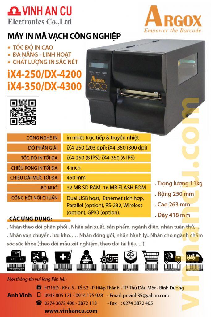 máy ARGOX IX350 300 DPI Giá Bán Sỉ