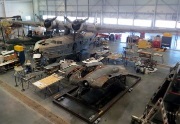 The Horten Ho 229 being restored at Steven F. Udvar-Hazy Center (Credits: Cynrik de Decker)