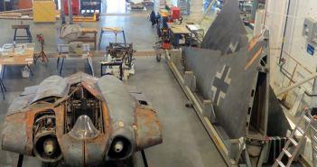The Horten Ho 229 being restored at Steven F. Udvar-Hazy Center (Credits: Cynrik de Decker)
