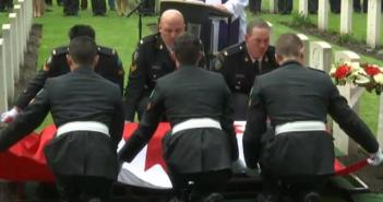 Canadian WWII Soldier given proper burial