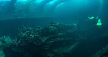 Bulldozer in the Hiko Maru. (Credits: Brandi Mueller)