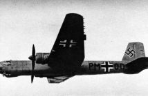 A Heinkel He 177 V5 heavy bomber prototype in flight, 1942/43. (Credits: U.S. Navy)