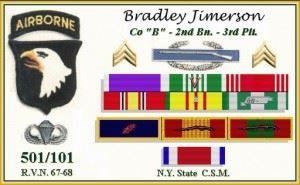 Bradley's Service Medals. (Credits: Bradley Jimerson)