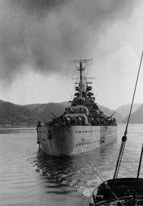 Tirpitz Norwegian waters in 1942-44. (Credits: U.S. Naval Historical Center)
