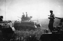 Stuart Light Tanks waiting for action near Narrabri.