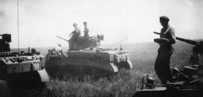 Stuart Light Tanks waiting for action near Narrabri.