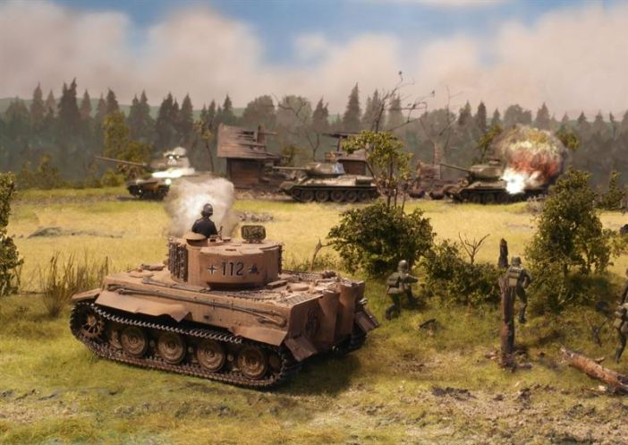 """Kurt Knispel - Tank Legend"" diorama created by Bjørn Jacobsen"