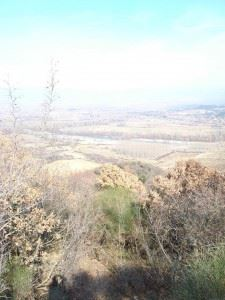 View from Hill 224, in the distance Strymon river and Bulgaria.
