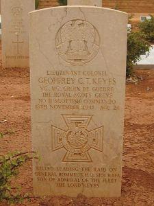 Operation Flipper: Grave of Lieutenant-Colonel Geoffrey Charles Tasker Keyes, War Grave Cemetery, Libya