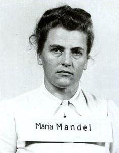 Maria Mandl after her arrest in 1945.