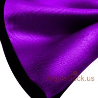 Shiny Purple / Black Bow Tie with elastic back strap for ...